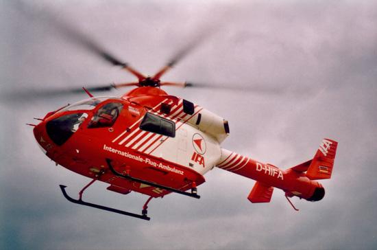 Auch die Internationale-Flug-Ambulanz (IFA) flog Hubschrauber diesen Typs