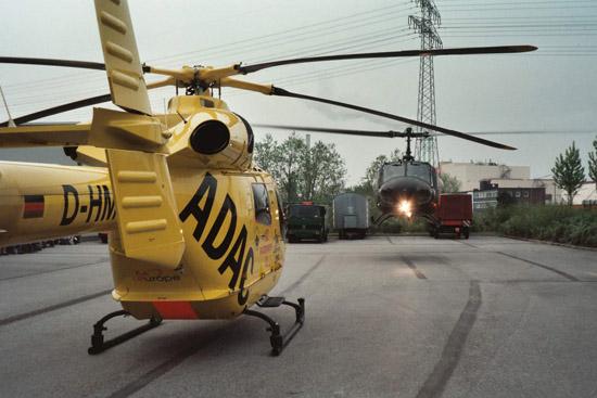 Die ADAC Luftrettung hatte zeitweise zwei Maschinen vom Typ MD 900 im Einsatz, eine in Mainz und eine in Hamburg (hier im Bild)
