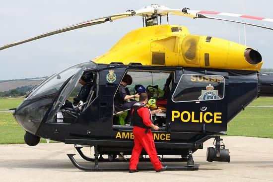Auch die englische Polizei hat mehrere MD 900 in Dienst