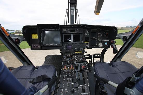 Innenansicht des Cockpits
