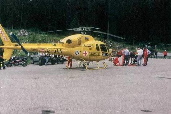 """""""Christophorus 1"""" und eine """"Alouette III"""" des österreichischen Bundesheeres im Einsatz"""