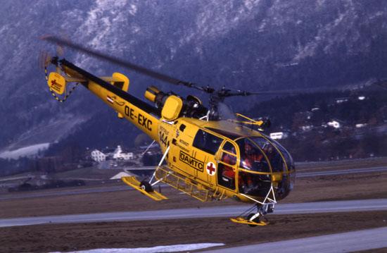 """Zwischendurch versah auch eine SA 316 """"Alouette III"""" den Dienst als """"Christophorus 1""""..."""