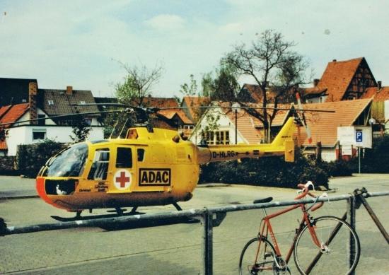 """""""Christoph 30"""" im Einsatz in Königslutter im Jahr 1990"""