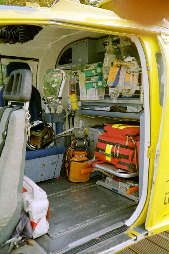 Medizinische Ausstattung der BO-105 CBS zum Ende ihrer Zeit