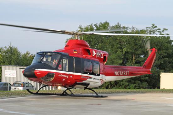 Ab und zu war auch in der jüngeren Vergangenheit eine Bell 412 als Einsatzmaschine zu sehen