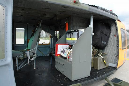 """Innenraum der gewichts- und ausstattungsoptimierten Gebirgsmaschine """"SAR 58"""""""