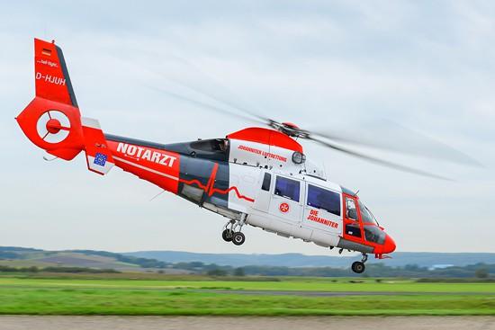 D-HJUH im neuen Corporate Design der Johanniter Luftrettung