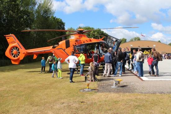 Die ausgestellten Hubschrauber standen den gesamten Tag über im Mittelpunkt des Interesses
