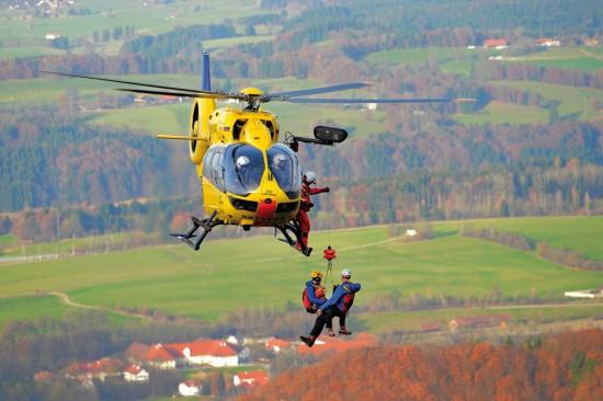 Windentraining mit der neuen H145 im Gebirge
