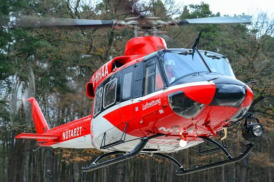 Die D-HHAA war die einzige Agusta-Bell 412 des HDM. Sie verfügte über einen SX5-Suchscheinwerfer.