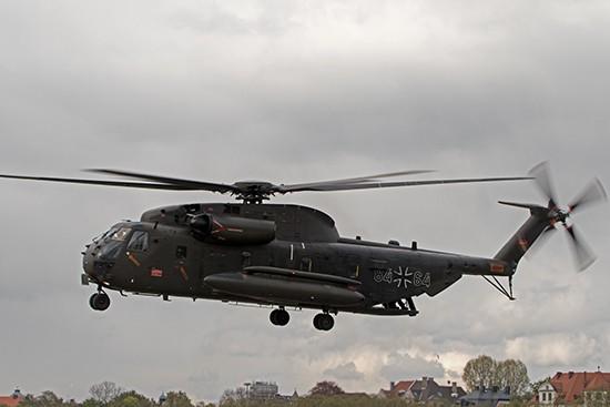 Einen wirklich beeindruckten Start, legte zum Schluss auch die CH 53 GS aus Laupheim hin