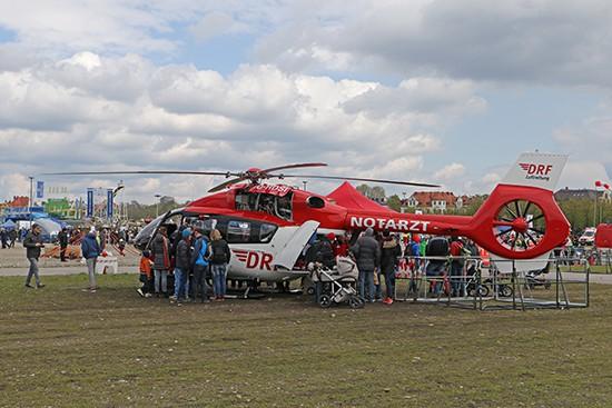 Ebenfalls war Christoph München mit einer H 145 T2 auf dem FiretageFestival zu besichtigen