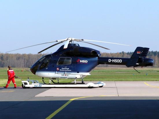 Die D-HSDD als Christoph Niedersachsen am Flughafen Hannover-Langenhagen