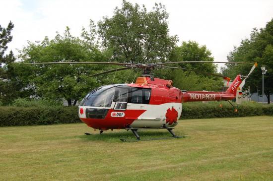 Bereits im Juni 2007 war es in Göttingen soweit (hier zu sehen die bereits abgestellte BO 105)
