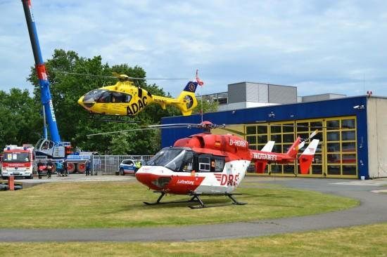 Die zahlreichen Starts und Landungen der beiden Bremer Luftrettungsmittel waren DAS Highlight der Veranstaltung