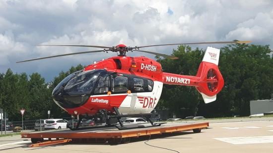 In Regensburg fliegt seit Mai 2015 eine H145 (hier zu sehen die D-HDSH als Einsatzmaschine des Tages)