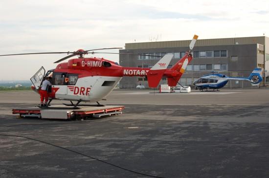 """Eine der letzten BK 117 der DRF Luftrettung fliegt in Dortmund als ITH """"Christoph Dortmund"""""""