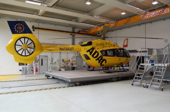 """In München fliegt mit der D-HYAL derzeit eine der jüngsten H145 der ADAC-Luftrettungsflotte als """"Christoph 1"""""""