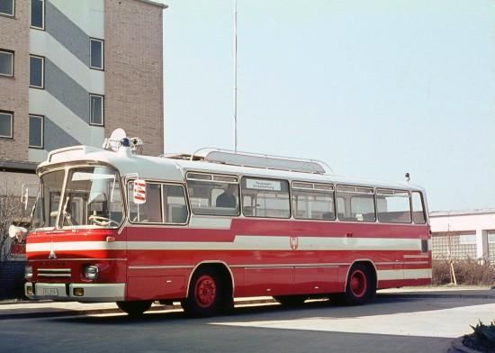 """Koordinierte die Einsätze von """"Florian Frankfurt Hubschrauber 1"""": der interimsweise an der BGU stationierte Kommandobus der Feuerwehr Frankfurt a. M."""