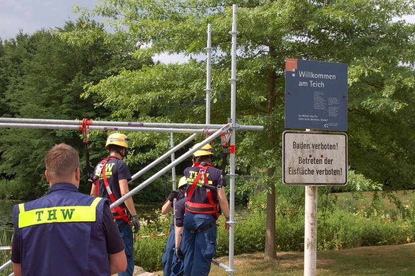Das Technische Hilfswerk (THW) vom Ortsverein Bremen-Süd zeigte sein Können
