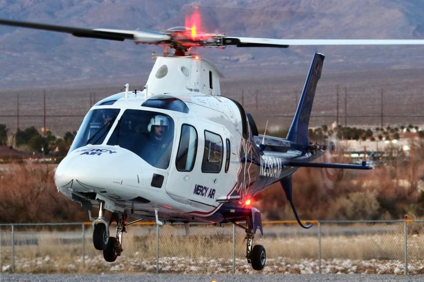 """…sowie eine A109 als """"Mercy Air 21"""" stationiert"""