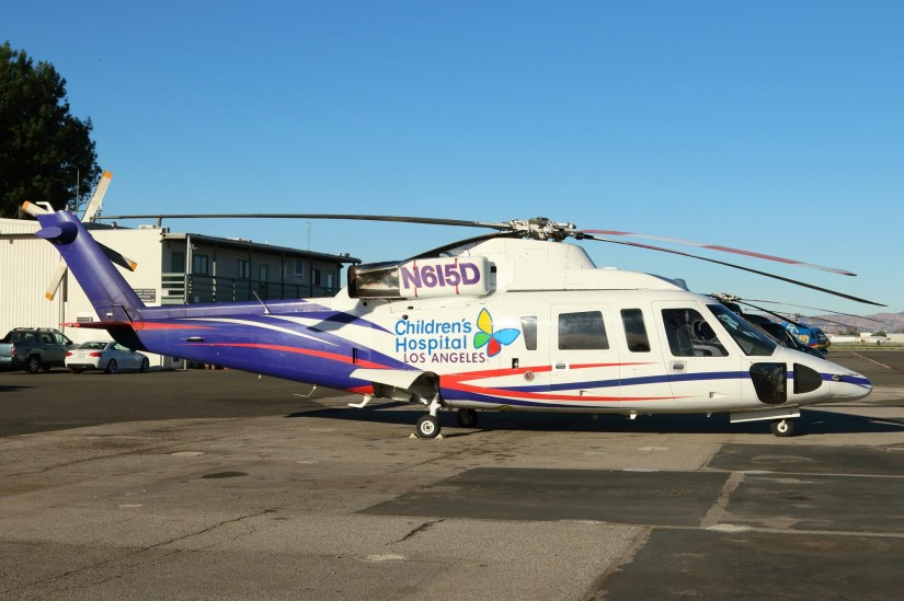 Die Sikorsky S-76B N615D kommt vorzugsweise für den Intensivtransport zum Einsatz