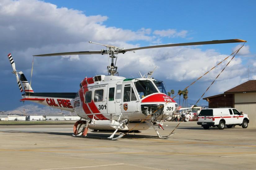 Jede Helitack-Basis hat ihren fest zugeordneten Hubschrauber