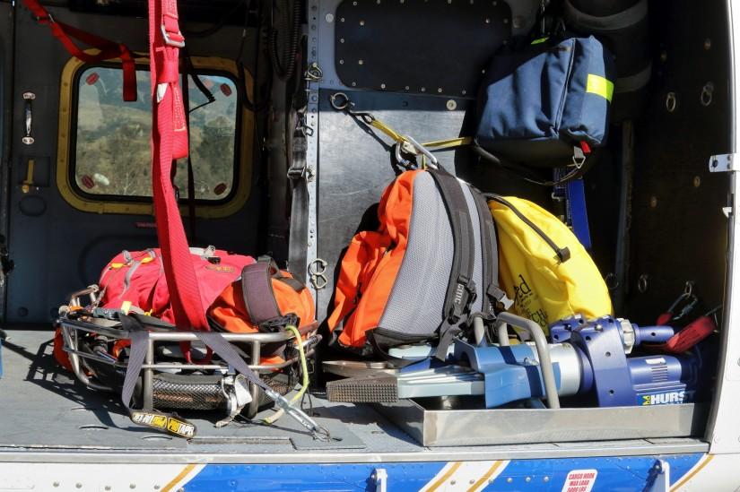 Das Rettungsgerät an Bord