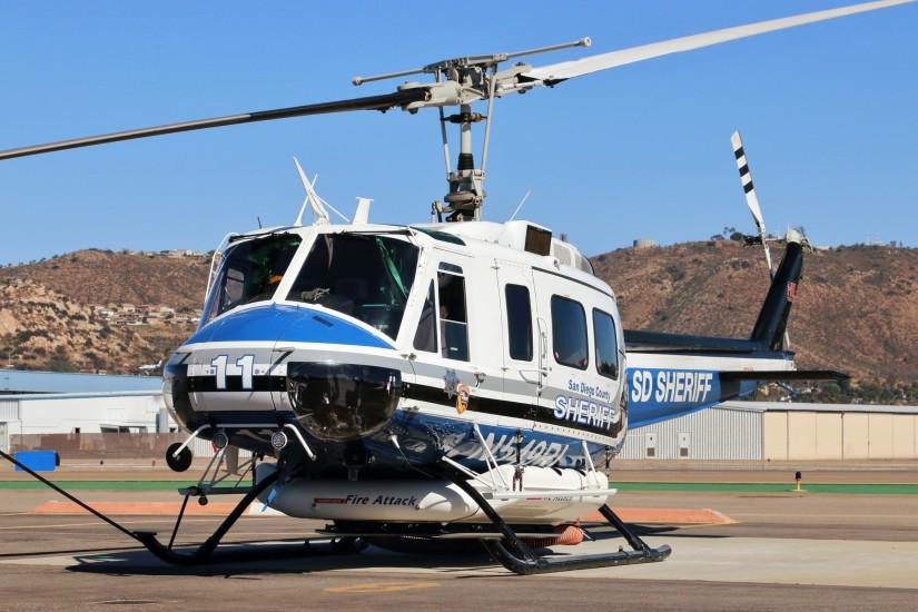 Drei Bell 205A-1 stehen der ASTREA für Rettungs- und Löscheinsätze zur Verfügung