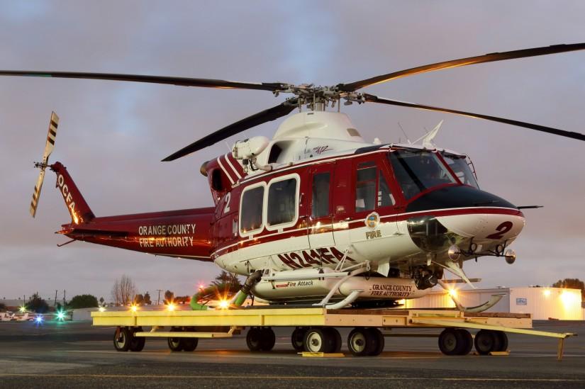 Rund um die Uhr stehen die OCFA-Hubschrauber für Einsätze bereit