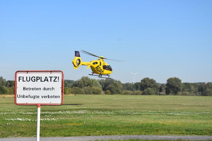 """Und schon wenige Minuten später wurde das Team des RTH """"Christoph 8"""" zum ersten Notfalleinsatz des Tages alarmiert"""