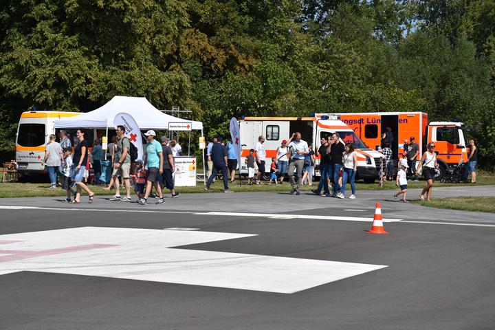 Und auch die Behörden und Organisationen mit Sicherheitsaufgaben zeigten auf dem runderneuerten Vorfeld sowie dem Mitarbeiterparkplatz des Klinikums Lünen Präsenz