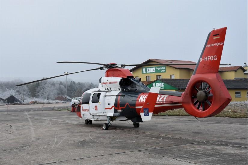 """Auf der ehemaligen US-Air Base Sembach fand der ITH """"Air Rescue Pfalz"""" seine (vorerst?) auf elf Monate beschränkte Heimat (Aufnahme aus dem Dezember 2018)"""