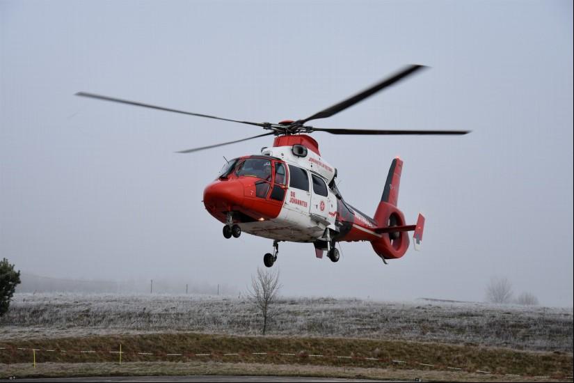 """Egal ob Regen oder Nebel, der ITH """"Air Rescue Pfalz"""" flog fast jeden Tag (hier landet er Ende Dezember 2018 an seiner Homebase)"""