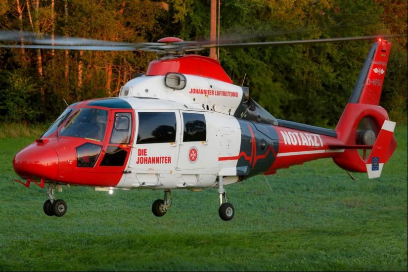 """Auch in den letzten Tagen wurde der ITH """"Air Rescue Pfalz"""" noch zu Notfalleinsätzen herangezogen (hier am 30. August 2019  in Buchholz bei Bruchmühlbach-Miesau)"""