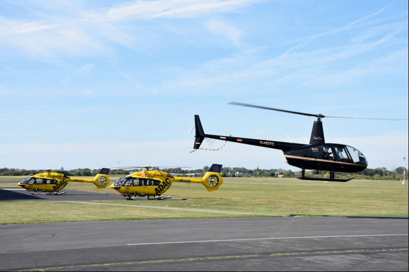 Am 15. September standen bei der ADAC Luftfahrt Technik (ALT) in Sankt Augustin die beiden Anfang des Monats in Eßweiler eingesetzten H145 mit den Kennern D-HYAE und D-HYAF
