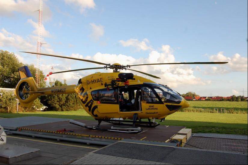 Die H145 ist der derzeit modernste RTH/ITH Deutschlands und optimal für die Luftrettung an der Küste geeignet