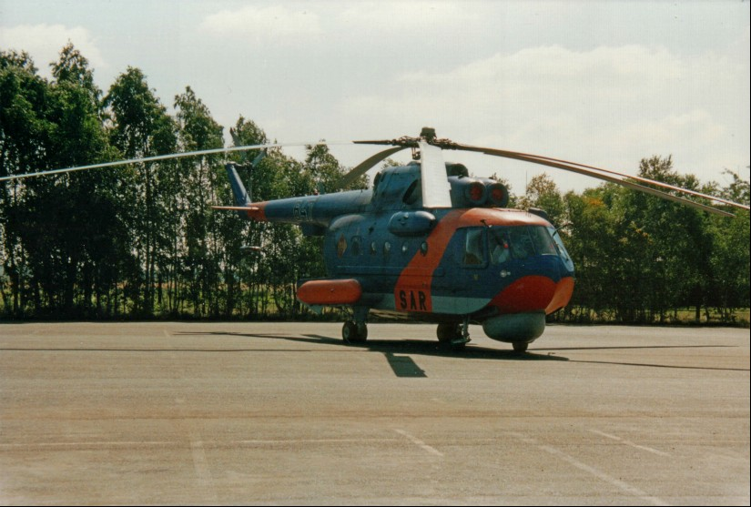 SAR-Hubschrauber des Musters Mil Mi-14TB im Such- und Rettungsdienst der Volksmarine der DDR eingesetzt