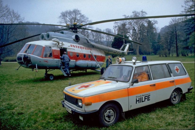 Durch die Interflug wurden mit der Mil Mi-8T vereinzelte Verlegungstransporte durchgeführt