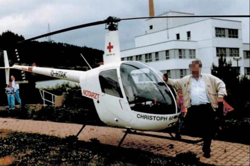 """Zwischen dem 1. Mai und dem 31. Dezember 1993 war die sehr kleine Robinson R-22 mit der Kennung D-HTAK und dem Rufnamen """"Christoph 60"""" als NEH in Suhl stationiert"""