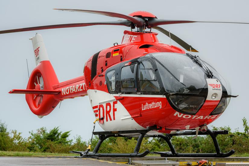 In Friedrichshafen hat die DRF Luftrettung eine ihrer modernsten RTH vom Typ H135 stationiert