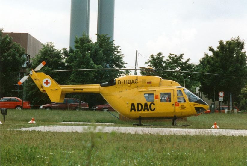 Ab Februar 1984 flog mit der BK 117 ein neues Muster in der bundesdeutschen Luftrettung