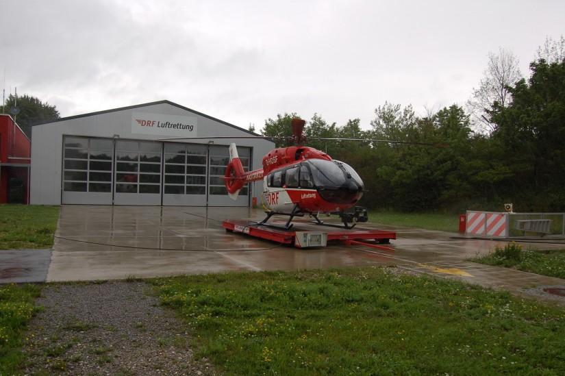 """In Großhadern ist heute eine hochmoderne H145 der DRF Luftrettung als ITH """"Christoph München"""" stationiert"""