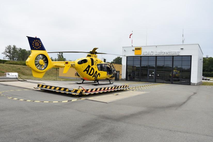 Von Anbeginn fliegt in Perleberg eine EC 135 der ADAC Luftrettung