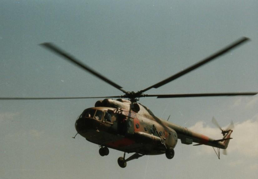 In Bad Saarow flog eine Mil Mi-8S als Rettungshubschrauber