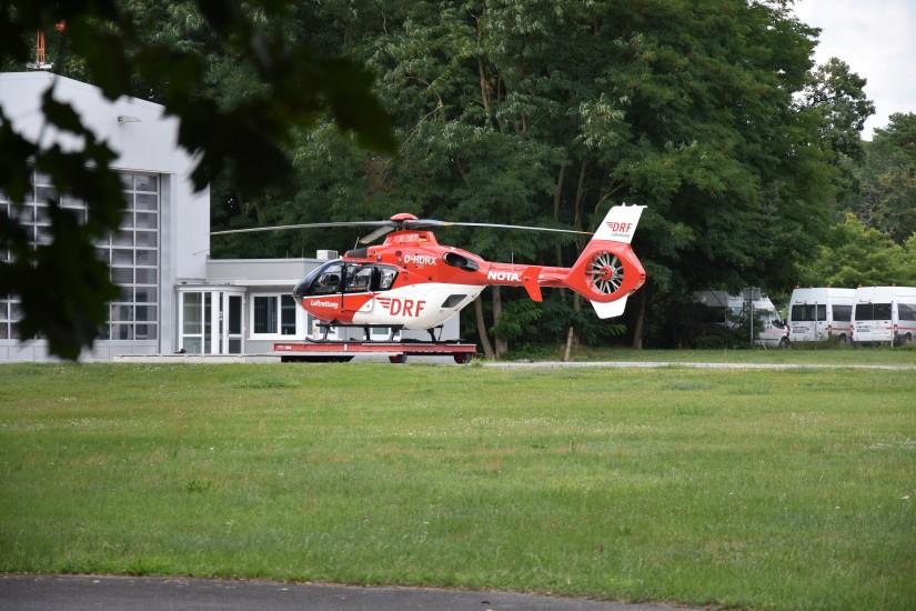 In Bad Saarow fliegt heute eine EC 135 – sie löste Anfang 2010 die BK 117 ab