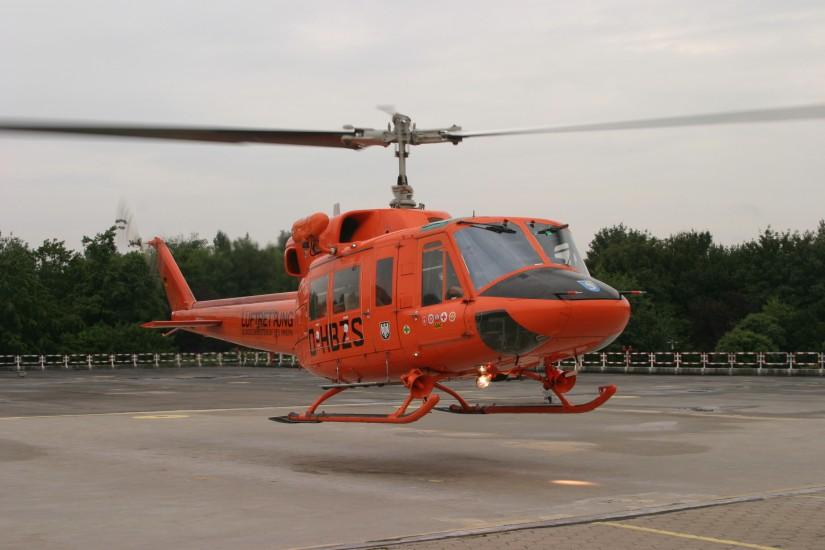 """Die Bell 212 flog nur rund anderthalb Jahre als """"Christoph 29"""" und wurde im Juli 2007 durch eine moderne EC 135 T2i abgelöst"""