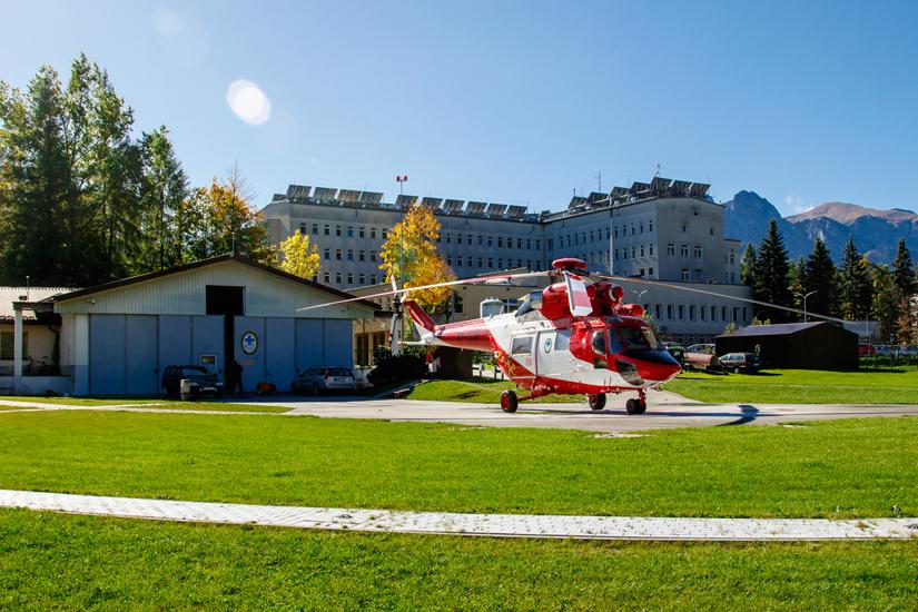 Das TOPR-Luftrettungszentrum am Krankenhaus Zakopane