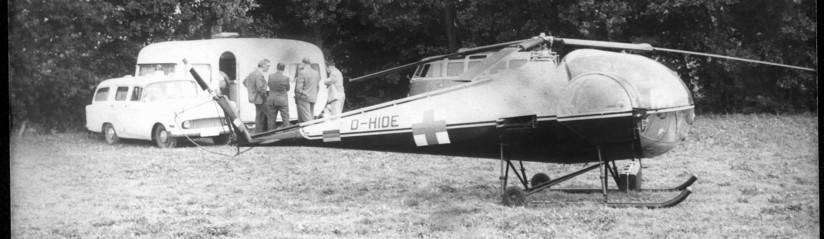 Der Praktische Arzt Hans-Werner Feder führte im Sommer 1967 seinen wegweisenden Hubschrauberversuch durch