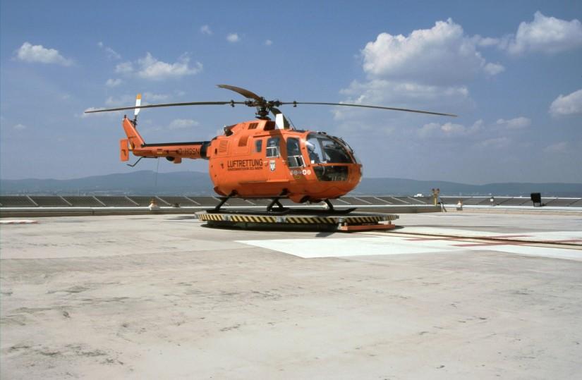 Von 1997 bis Anfang 2008 flog in Frankfurt am Main eine orange EC BO 105 CBS-5